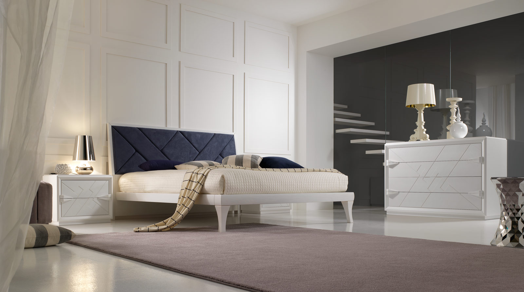 arredo zona notte stilema - tolomello interior design a napoli e a ... - Stilema Camera Da Letto